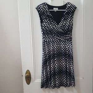 Alyx black & white poka dot gradiet dress size s